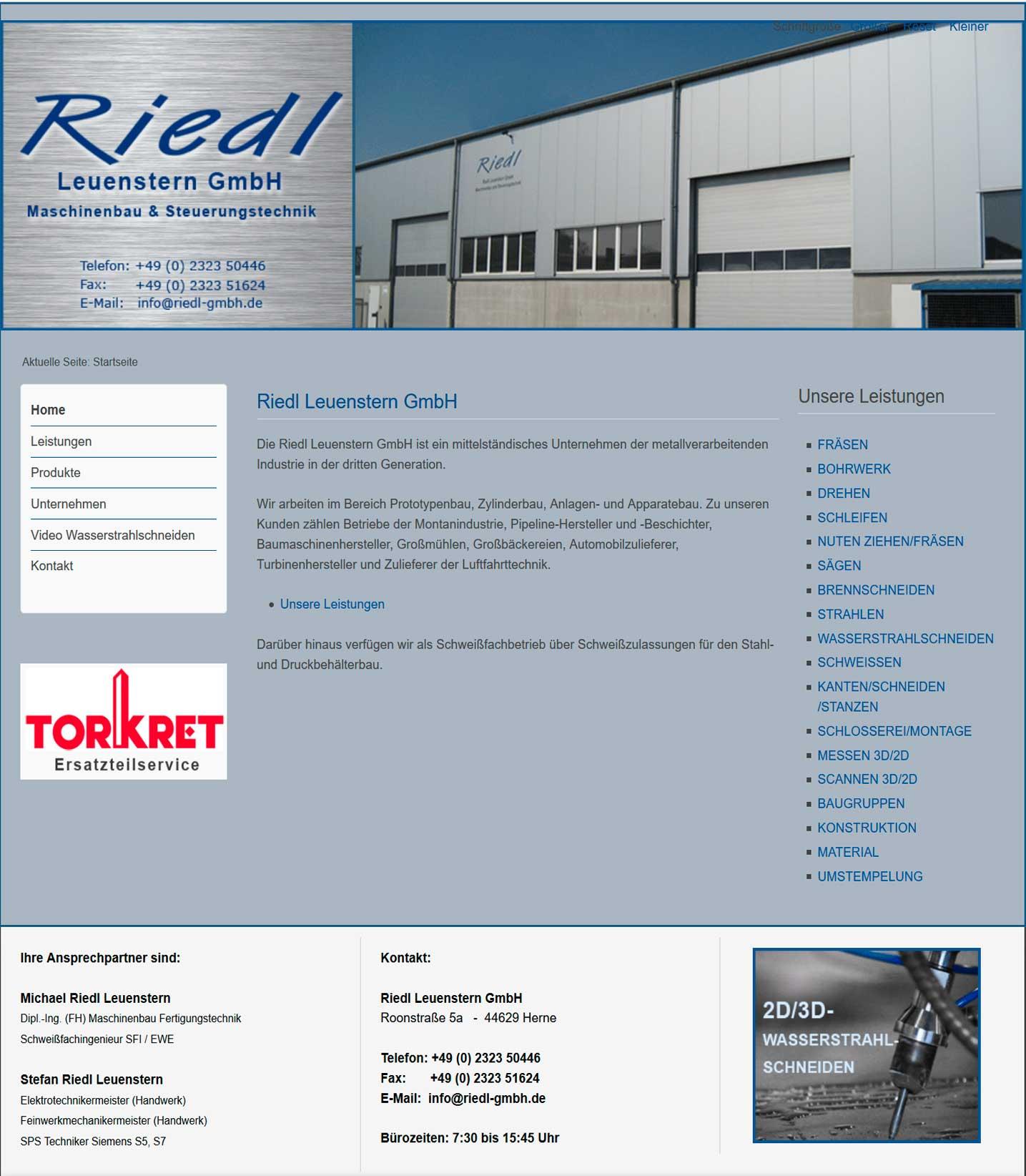 Referenz: Riedl Leuenstern GmbH