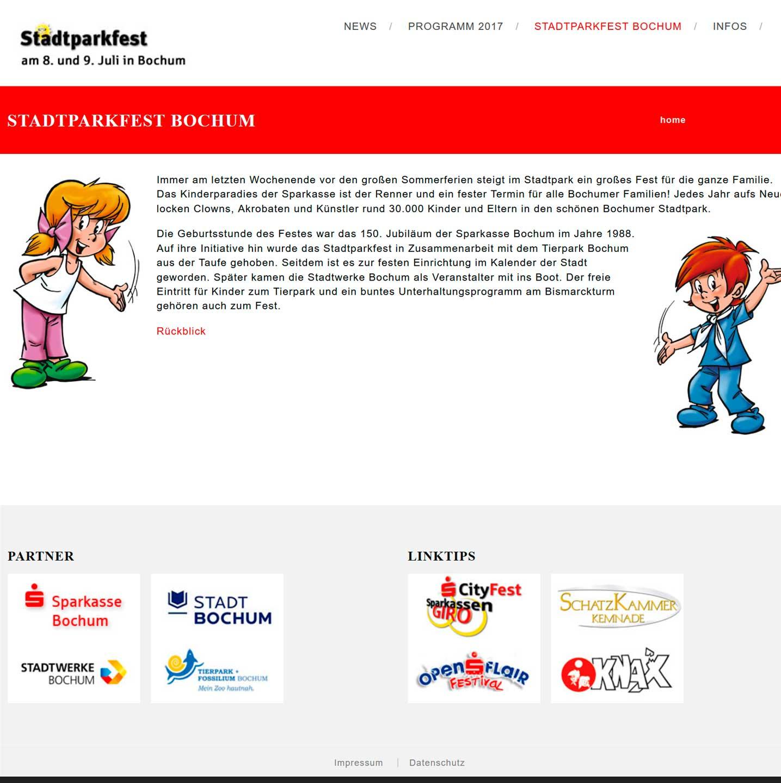 Referenz: Stadtparkfest in Bochum